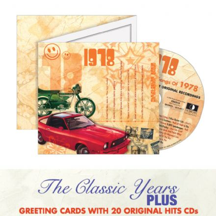 1970 to 1979  The Classic Years CD Greeting Card.